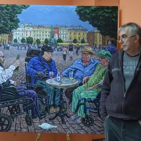 Последний день экспонирования живописных произведений  Днепропетровского художника Сергея Фадеева  на выставке «Скромное обаяние Homo Sapiens»