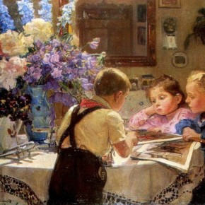Картина Георгия Мелихова «Дети» в музейном проекте «Экспонат месяца»